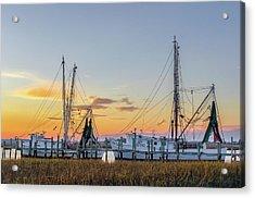 Shrimp Boats Acrylic Print by Drew Castelhano