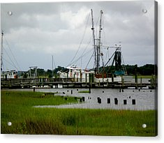 Shrimp Boats Acrylic Print by Jeffrey Zipay