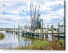 Shrimp Boats Of St. Helena Island Acrylic Print