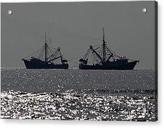 Shrimp Boats Acrylic Print by Rick Mann