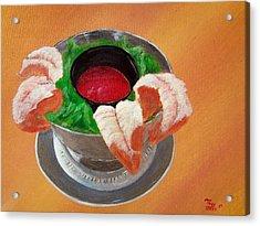 Shrimp Cocktail Acrylic Print by Tony Rodriguez