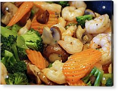 Acrylic Print featuring the photograph Shrimp Stir Fry #2 by Ben Upham III