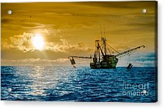Shrimp Trawler At Dawn Acrylic Print