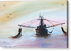 Shrimp Trawler Acrylic Print