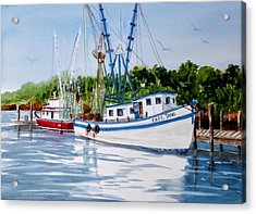 Shrimpers Acrylic Print