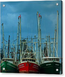 Shrimpers Acrylic Print by Mark Fuller