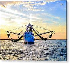 Shrimper's Sunset Acrylic Print