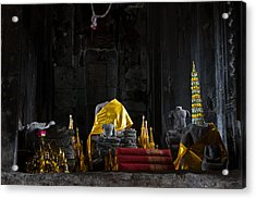 Shrine At Angkor Wat Acrylic Print