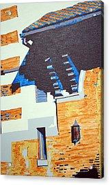 Shrine Corbels Detail Acrylic Print by Sheri Buchheit
