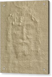 Shroud Of Turin 3d Information Acrylic Print by Ray Downing