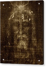 Shroud Of Turin Acrylic Print by Ray Downing
