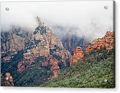 Acrylic Print featuring the photograph Shrouded In Clouds by Phyllis Denton
