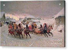 Shrovetide Acrylic Print by Petr Nicolaevich Gruzinsky