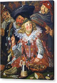 Shrovetide Revellers The Merry Company Acrylic Print