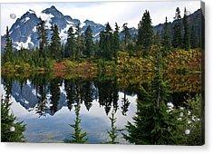 Shuksan Vista Acrylic Print by Mike Reid