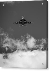 Shuttle Enterprise In Black And White Acrylic Print by Anthony S Torres