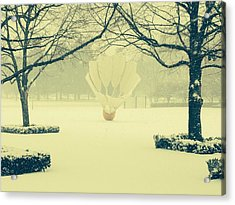 Shuttlecock In The Snow Acrylic Print