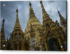 Shwedagon Clouds Acrylic Print by David Longstreath