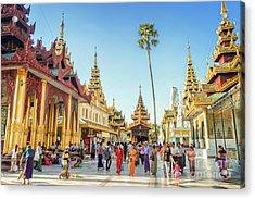 Shwedagon Pagoda Acrylic Print by Louise Poggianti