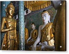 Shwedagon Watchers Acrylic Print by David Longstreath