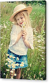 Shy Child Acrylic Print by Maria Dryfhout