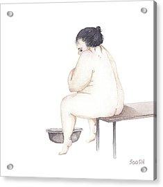Shy Acrylic Print by Soosh