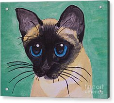 Acrylic Print featuring the painting Siamese by Leslie Allen