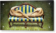Siamese Twins Acrylic Print by Lolita Bronzini