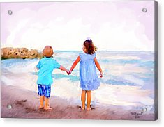 Sibling At Sunset Acrylic Print