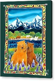 Sibling Bears Of Katmai Acrylic Print by Harriet Peck Taylor