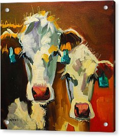 Sibling Cows Acrylic Print