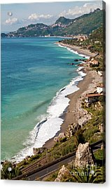 Acrylic Print featuring the photograph Sicilian Sea Sound by Silva Wischeropp