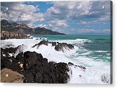 Acrylic Print featuring the photograph Sicilian Stormy Sound by Silva Wischeropp