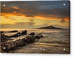 Sicilian Sunset Isola Delle Femmine Acrylic Print