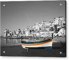 Sicily Fishing Boat  Acrylic Print by Jim Kuhlmann