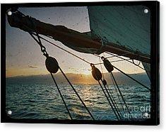 Sicily Sunset Sailing Solwaymaid Acrylic Print by Dustin K Ryan