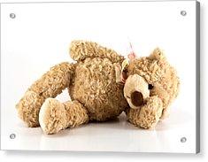 Sick Teddy Bear Acrylic Print by Blink Images
