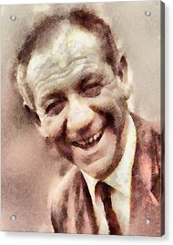 Sid James, Carry On Actor Acrylic Print by John Springfield