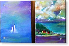 Side By Side Paintings Acrylic Print