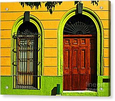 Side Door By Darian Day Acrylic Print by Mexicolors Art Photography