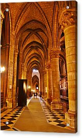 Side Hall Notre Dame Cathedral - Paris Acrylic Print
