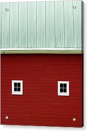 Side Of A Big Red Barn In The Palouse Acrylic Print