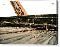 Side Of Rail #photography #trains Acrylic Print