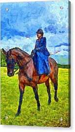 Acrylic Print featuring the photograph Side Saddle by Scott Carruthers