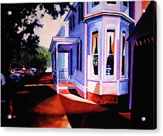 Acrylic Print featuring the painting Side Street - Lambertville by Robert Henne
