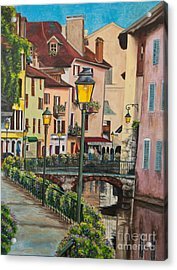 Side Streets In Annecy Acrylic Print