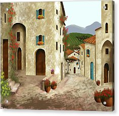 side streets of Tuscany Acrylic Print by Larry Cirigliano
