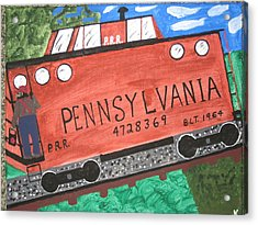 Side Tracked In Pa.  Acrylic Print by Jeffrey Koss