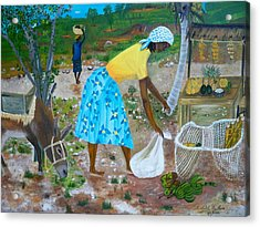 Acrylic Print featuring the painting Sideroad  Merchant 2 by Nicole Jean-Louis