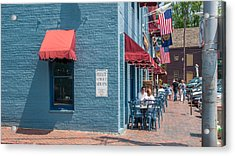 Acrylic Print featuring the photograph Sidewalk Cafe Annapolis by Charles Kraus